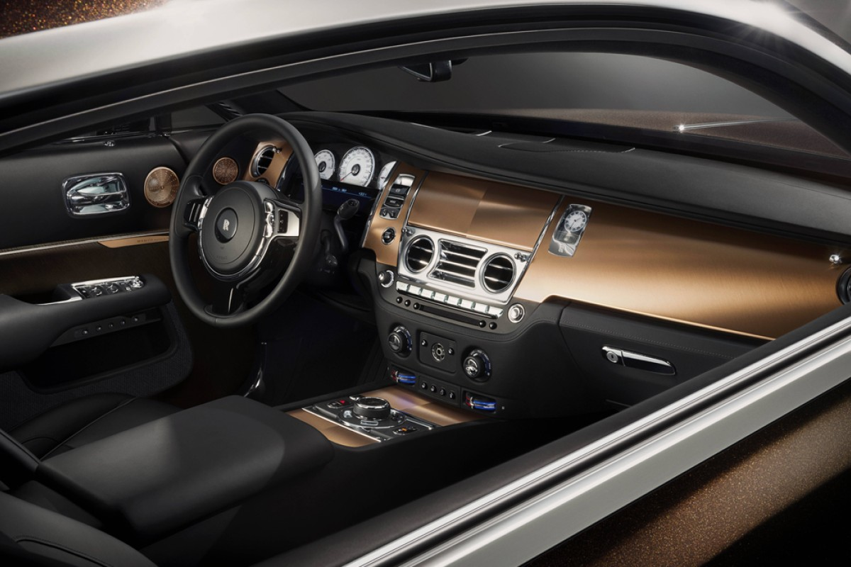 The advanced navigation and music systems inside Rolls-Royce's Wraith. The marque is proud of its GPS Satellite-Aided Transmission in the model. Photos: Xinhua, AFP, Reuters, EPA, Bloomberg, Microsoft