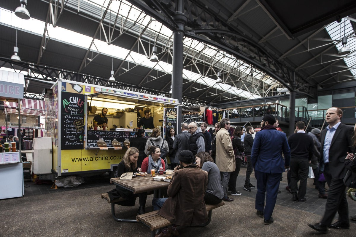 The Al Chile food trailer, at Old Spitalfields Market, in London. Photos: Ayesha Sitara