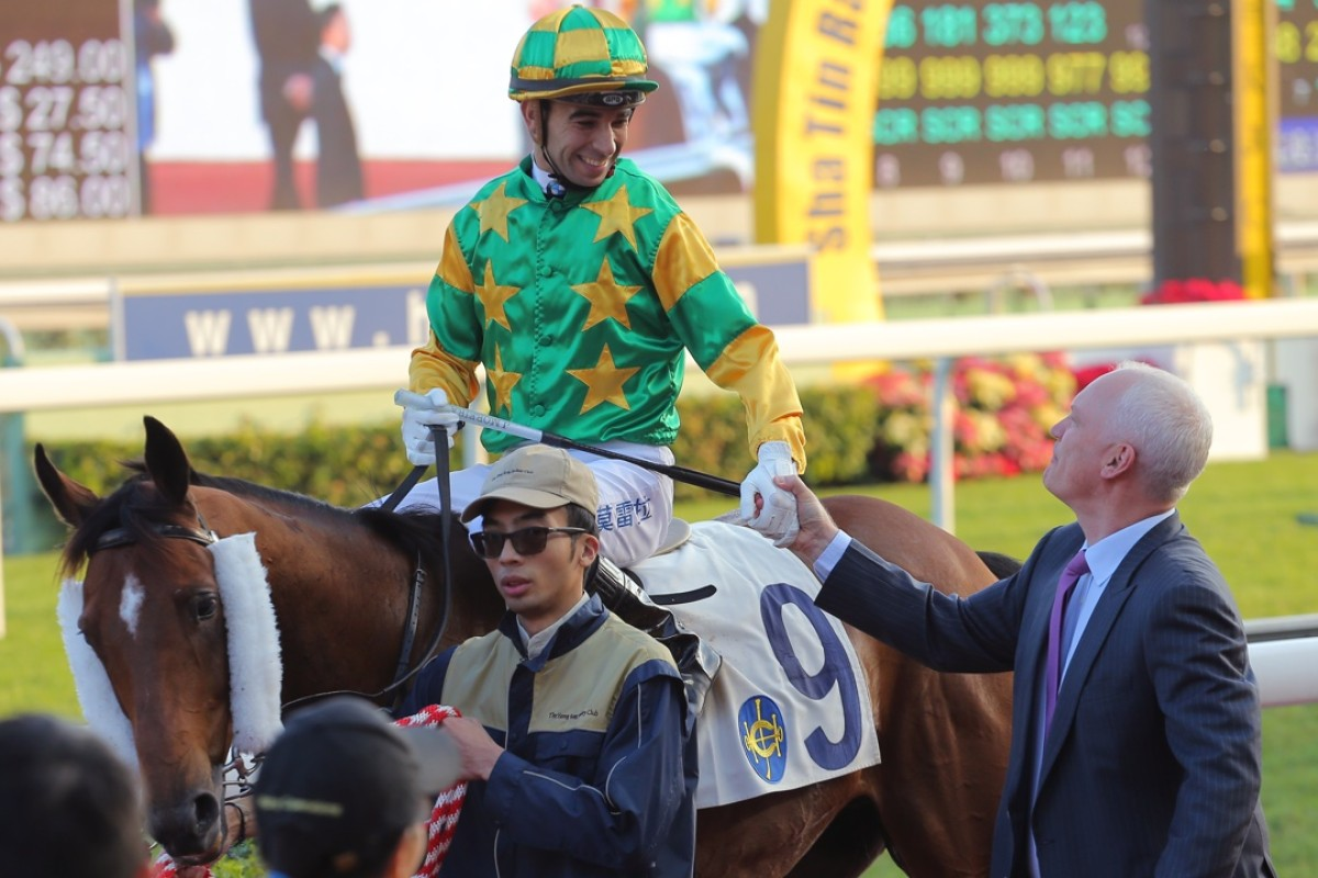 Joao Moreira is taking all before him, but it now has the Jockey Club looking at other options as turnover drops amid his dominance. Photo: Kenneth Chan