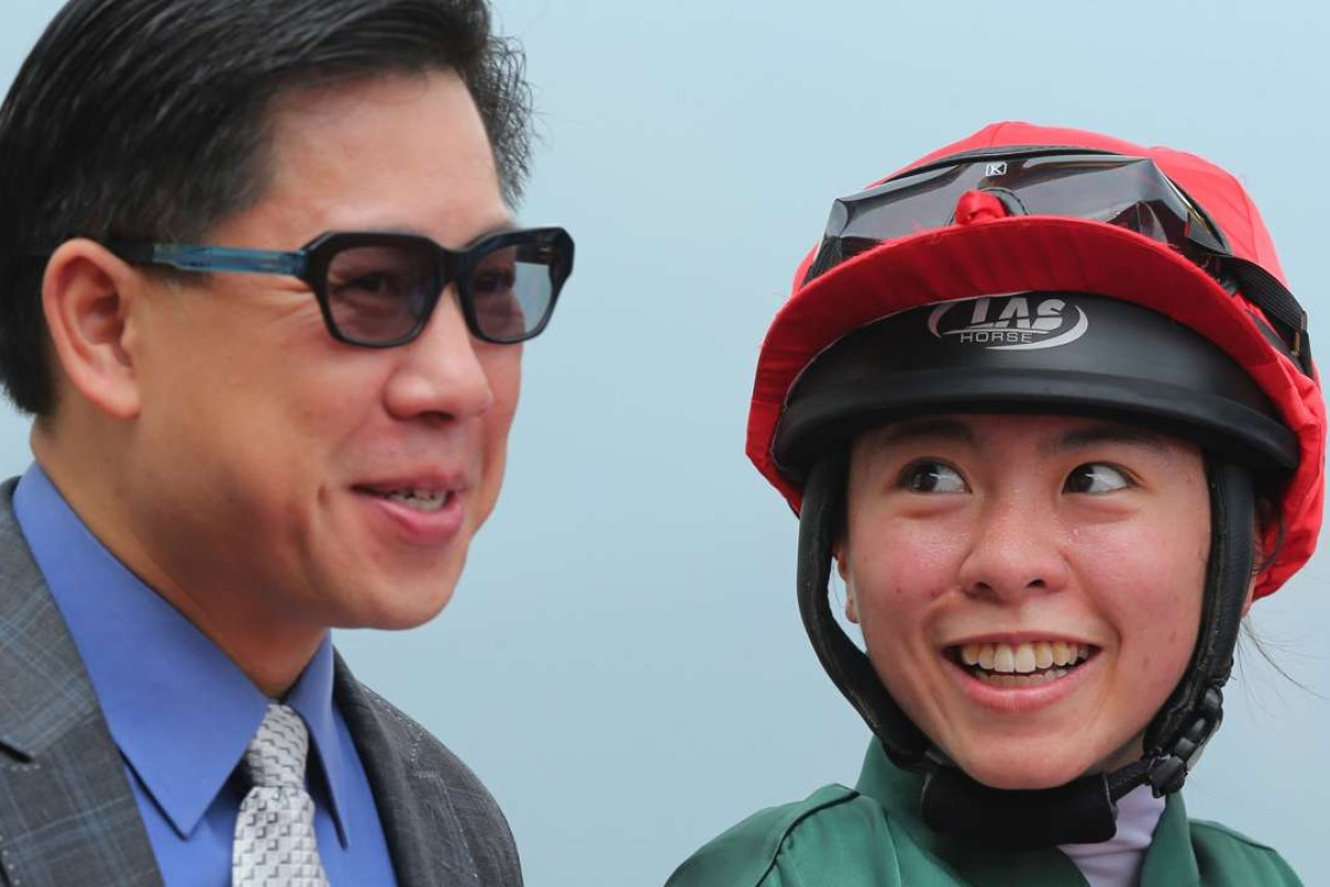 Dennis Yip finally reaped the rewards of having Kei Chiong on his horses as the pair combined for a double. Photo: Kenneth Chan