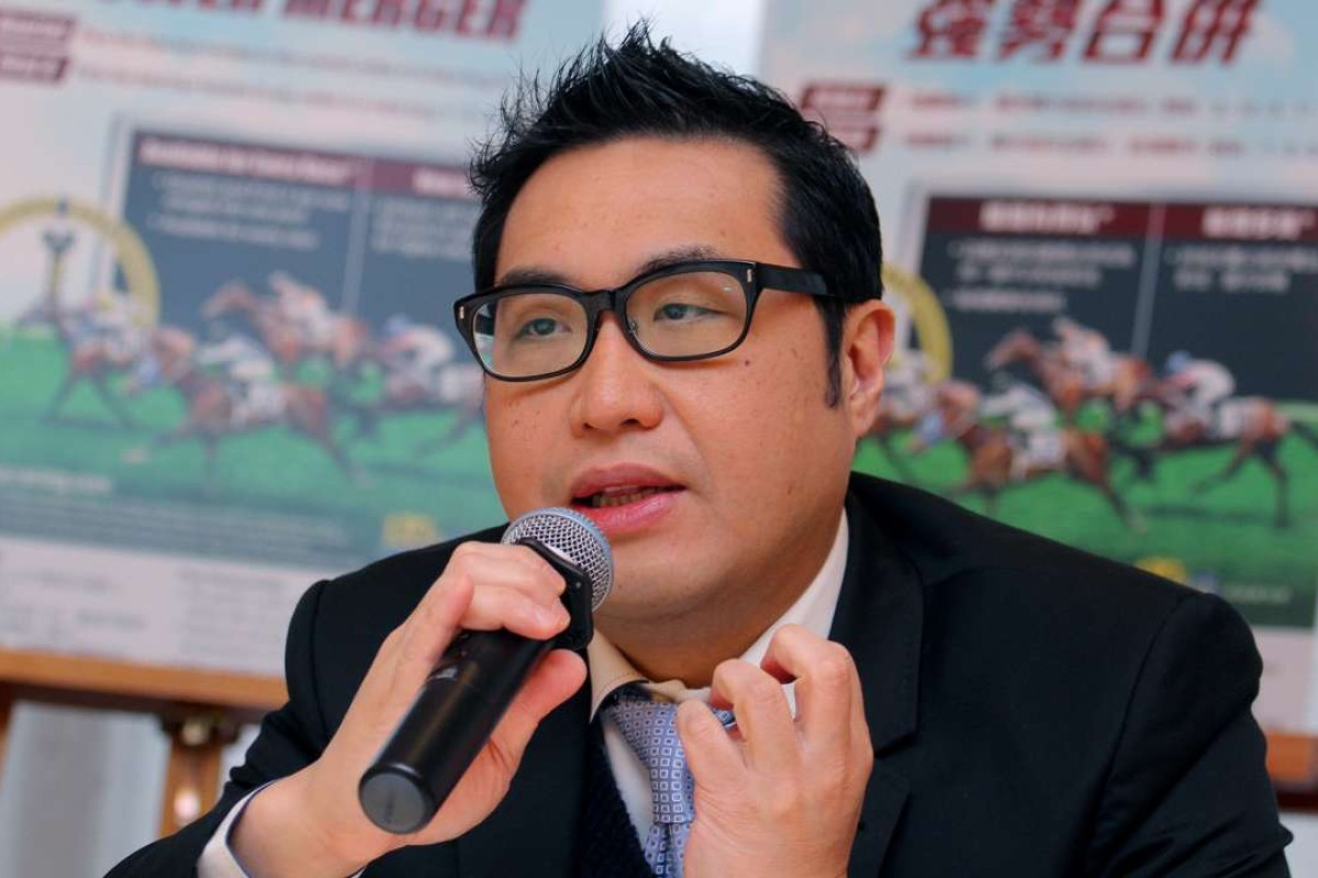 Jockey Club executive director of customer and marketing Richard Cheung announced that the Racing.com telecast would continue until at least the end of the season. Photo: Kenneth Chan