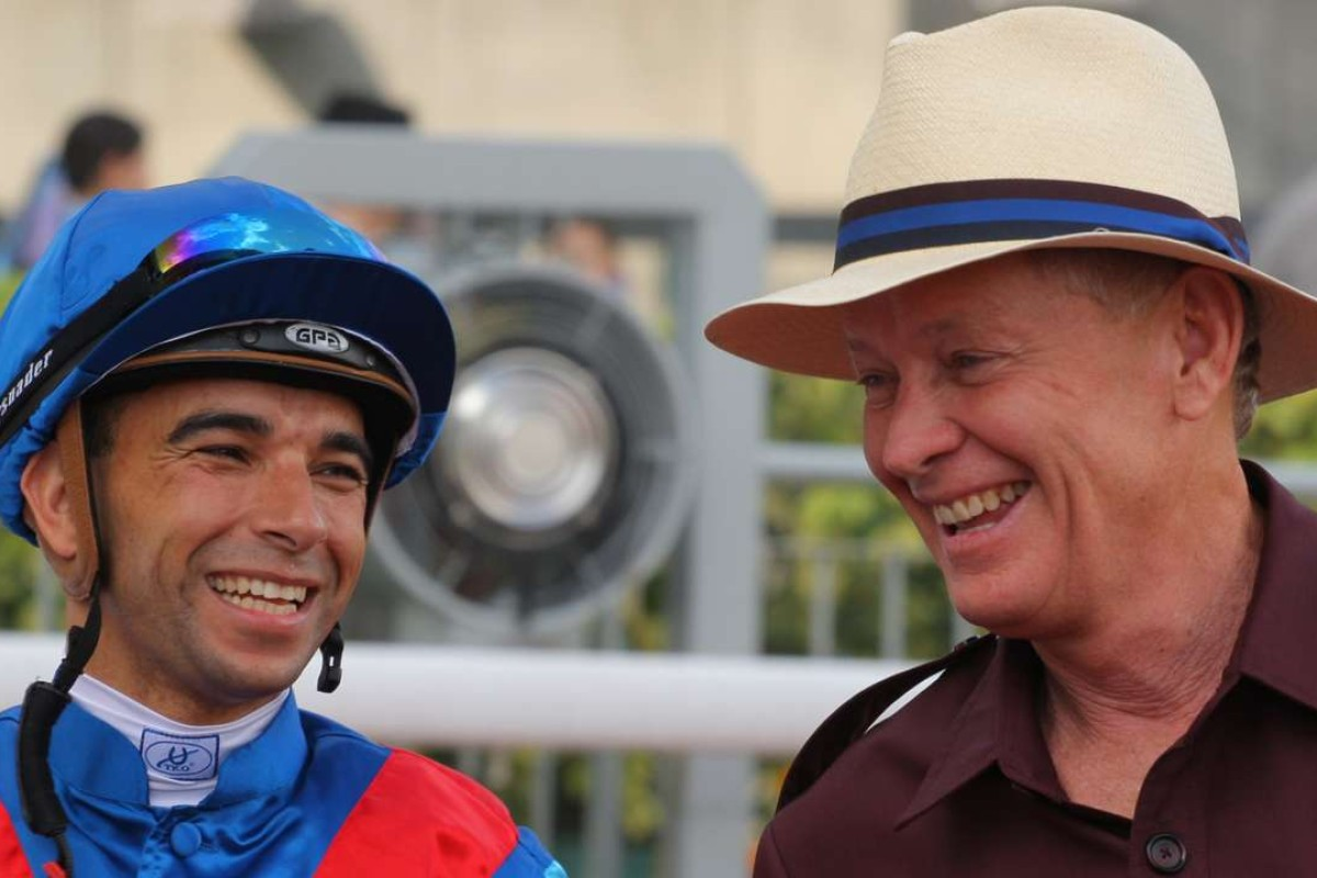 Joao Moreira and John Moore can dominate the final leg of the Triple Trio with Lotus Strikes Back. Photo: Kenneth Chan