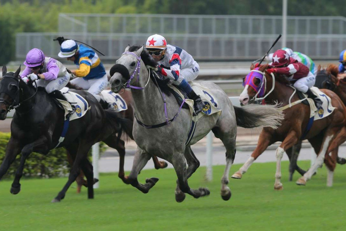 Roundabout races away to win at his first start comfortably. Photo: Kenneth Chan
