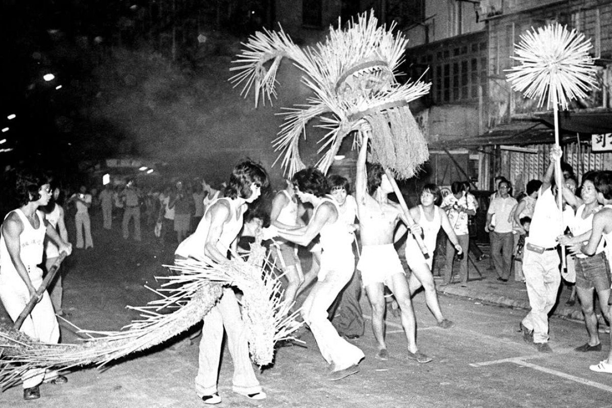 A fire-dragon dance in Tai Hang in the 1970s. Picture: SCMP