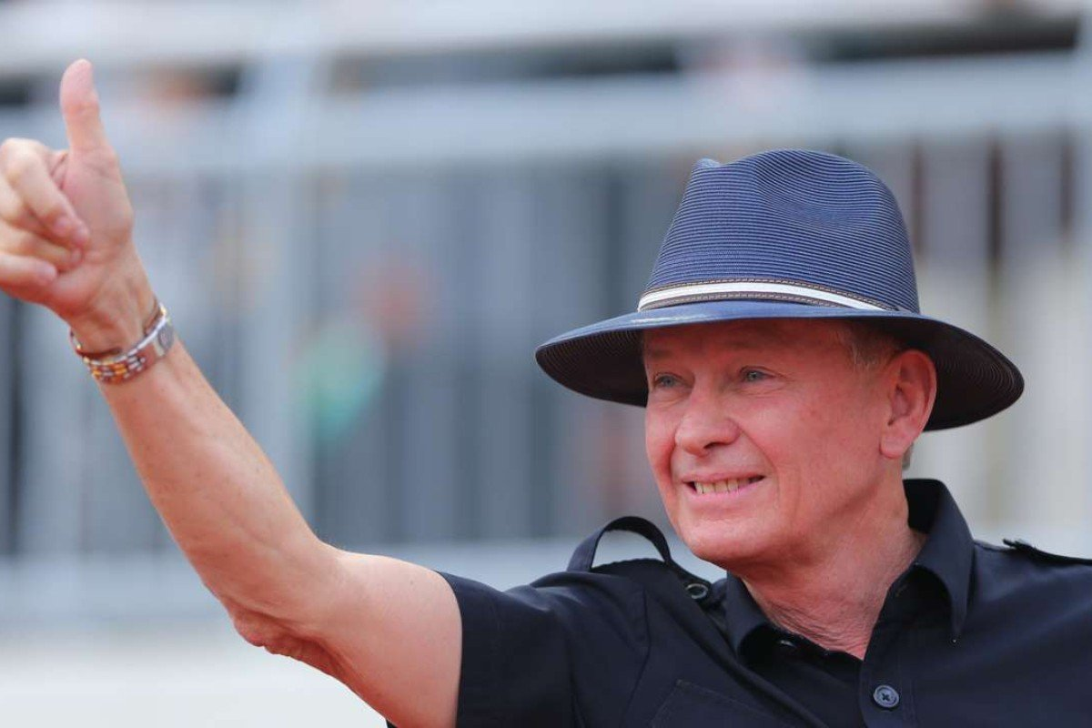 Trainer John Moore after winning last year's National Day Cup. Photos: Kenneth Chan
