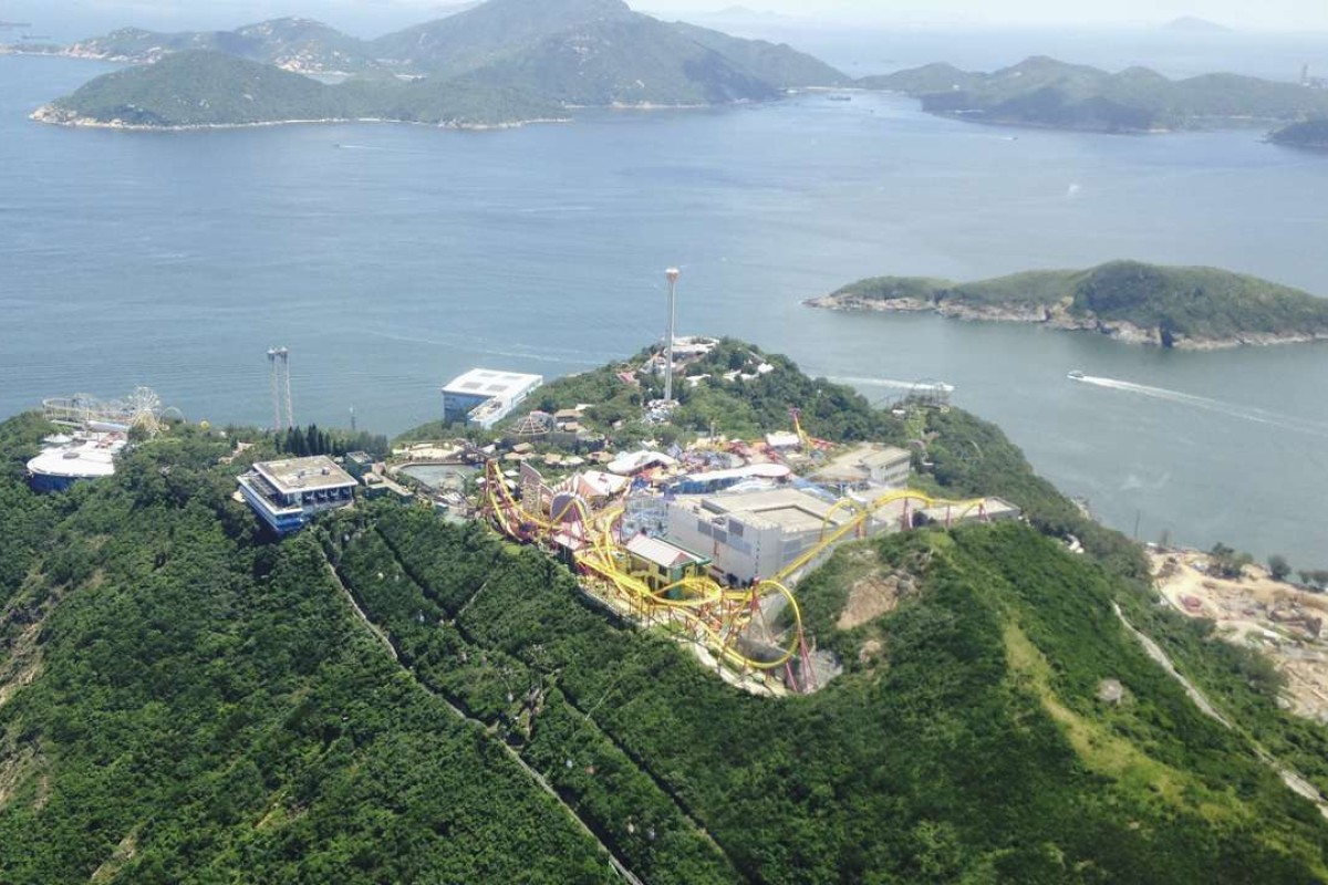 Hong Kong's Oceanpark, as viewed from a helicopter. File photo