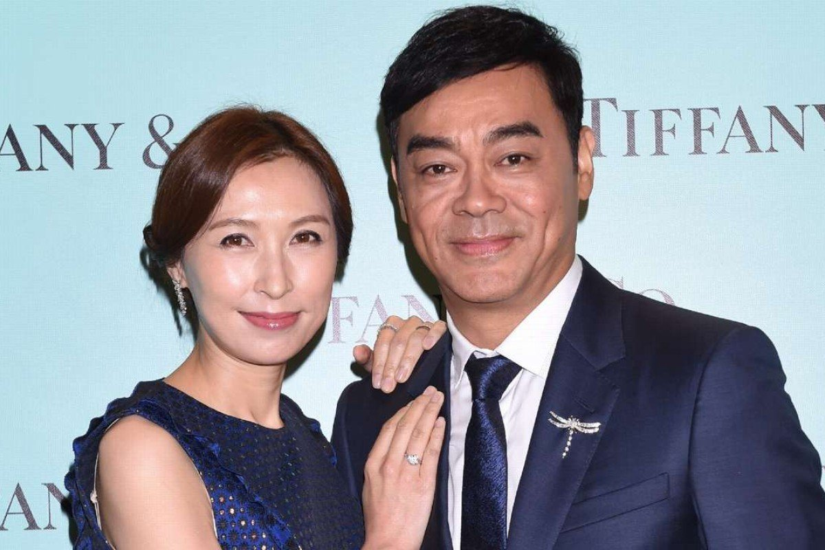 Power couple Sean Lau and Amy Kwok Lau were spotted having fun at Tiffany's celebration.