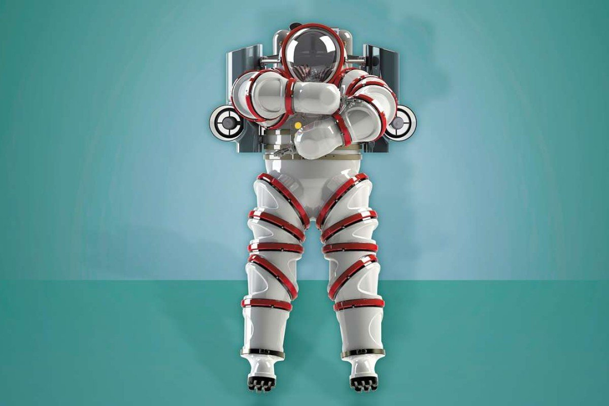 The Exosuit diving suit resembles a space suit