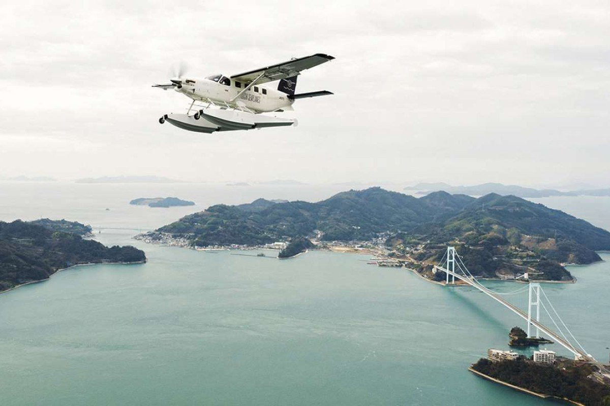 A Setouchi Seaplanes flight takes sightseers over the Seto Inland Sea.