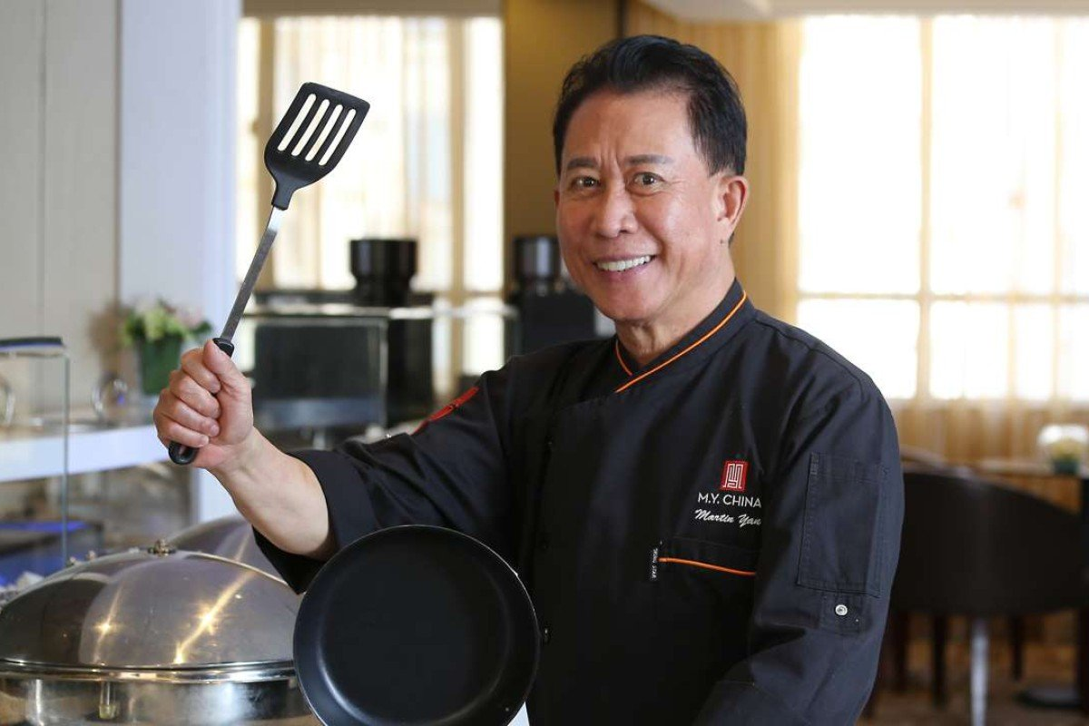 "Chef Martin Yan at Metro Park Kowloon Hotel. Yan says he uses cutlery ""like professional tennis players use rackets"". Photo: KY Cheng"