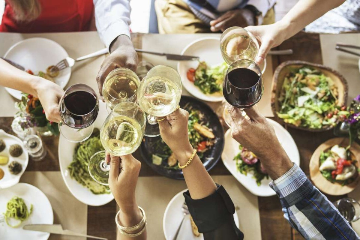 In the case of a really good pairing of food and wine, all conversation stops as the table alternates between sips and bites.