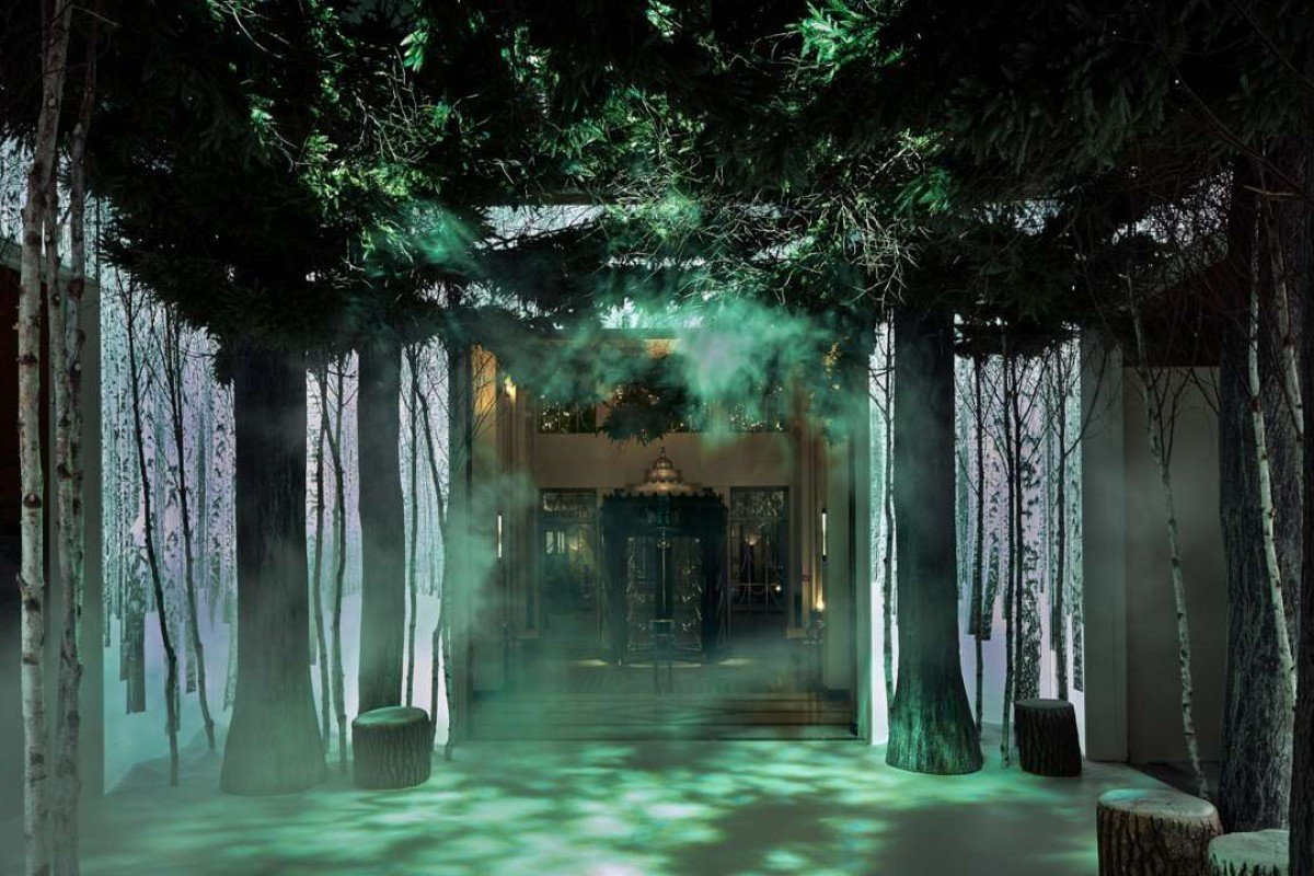 Claridge's London's winter wonderland created by Jonathan Ive and Marc Newson.