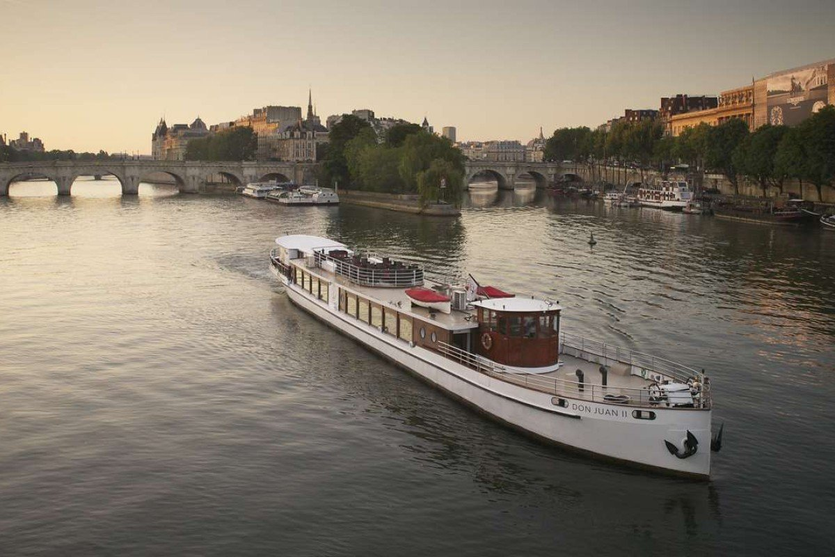 Pierre Frey Don Juan yacht on the Seine