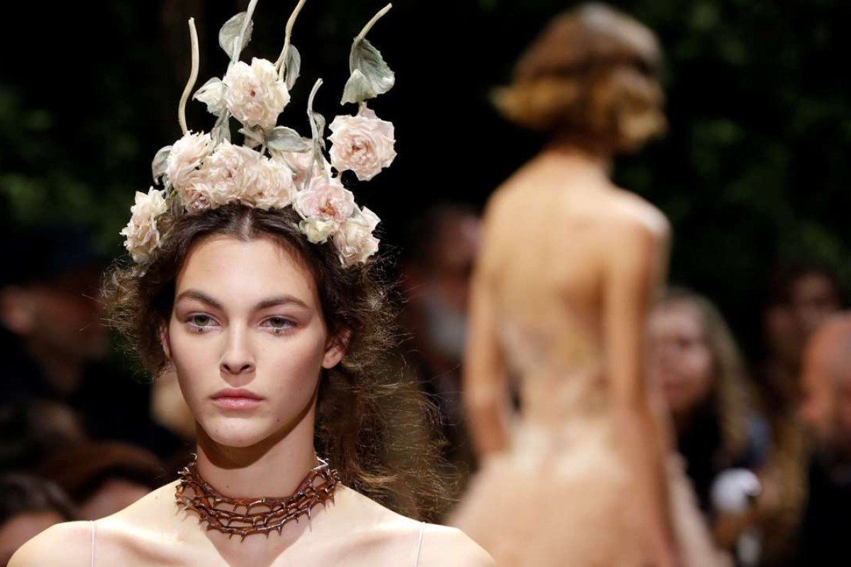 Christian Dior's Haute Couture Spring-Summer 2017 fashion collection. Photo: AFP