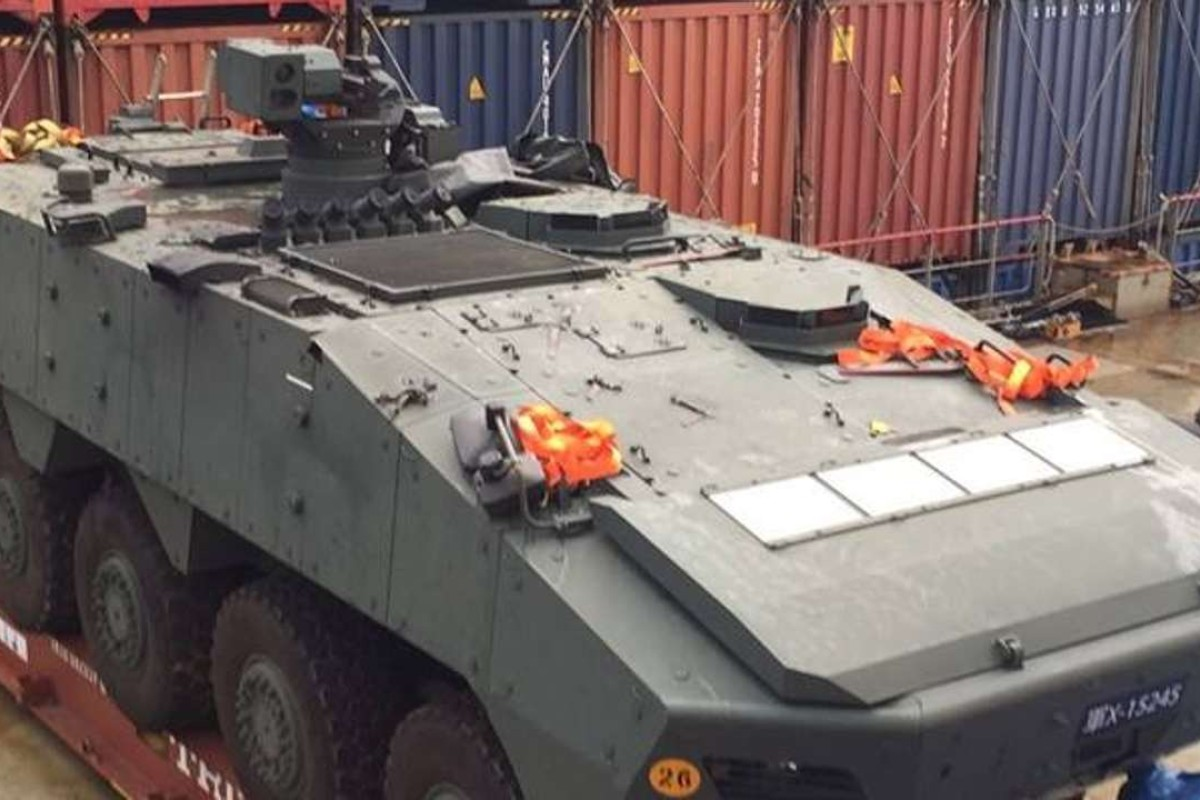 One of the armoured cars held in Hong Kong. Photo: Facebook