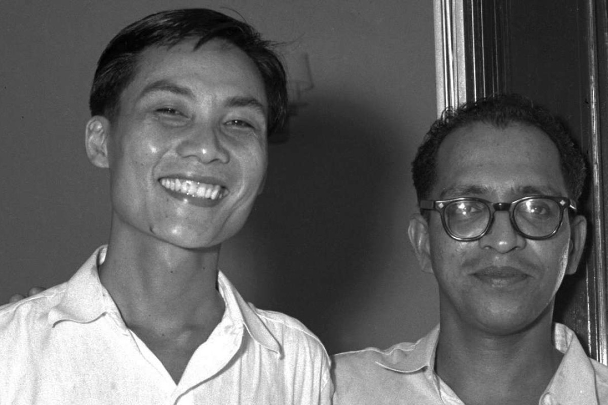 Fong Swee Suan, right, and Devan Nair were detained for 31 months under the Preservation of Public Security Ordinance. Photo: AFP