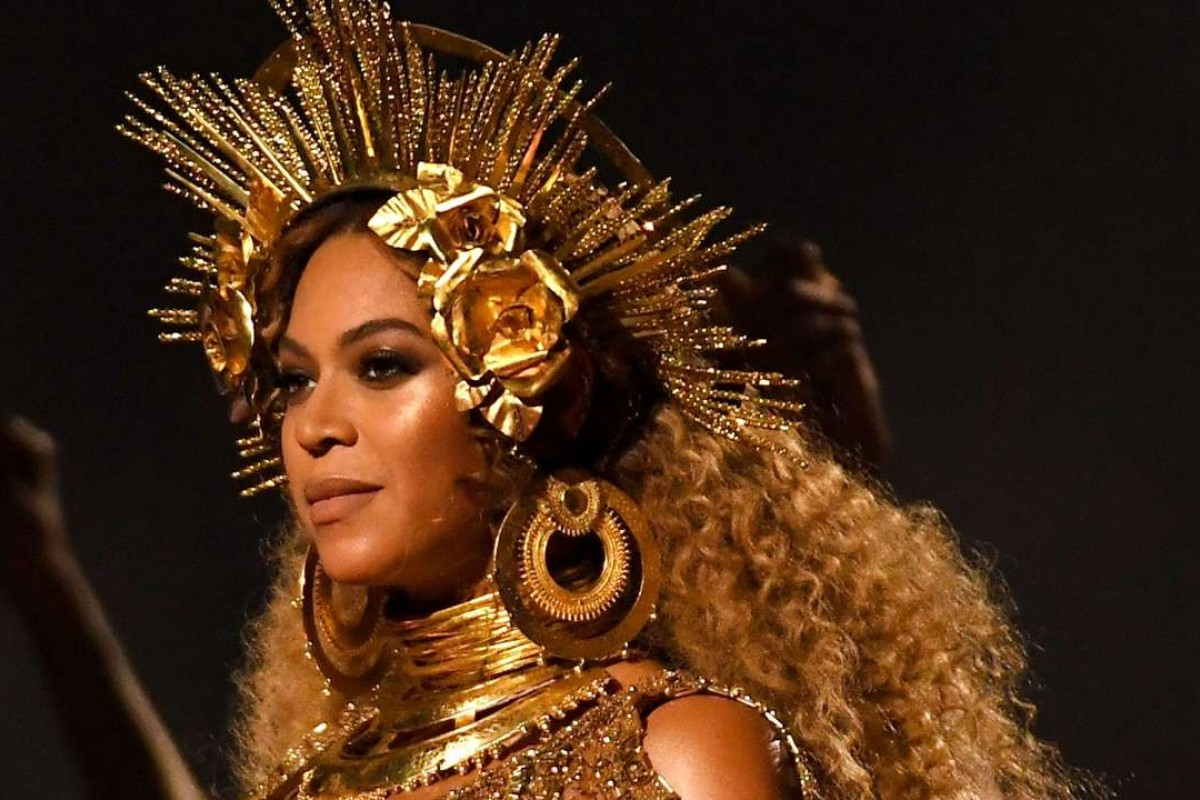 Beyonce performs at the 59th annual Grammy Awards. Photo: AFP