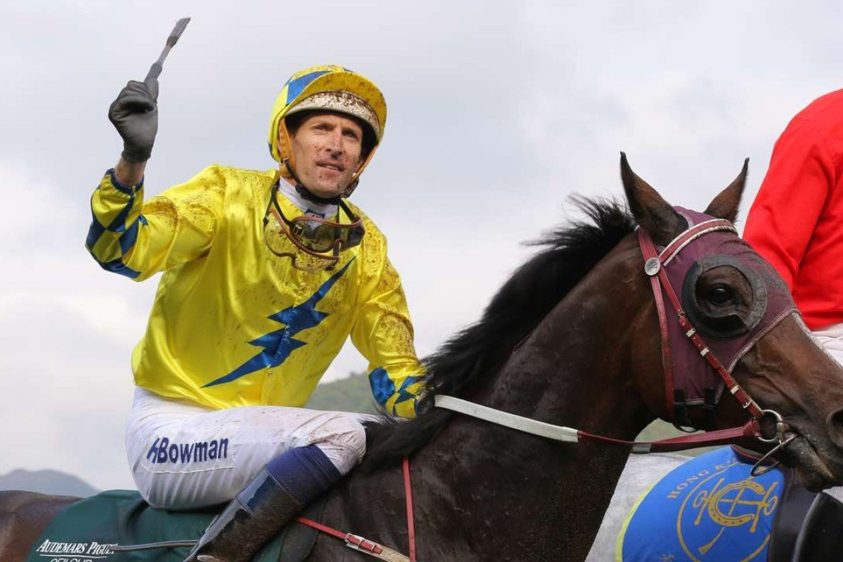 Hugh Bowman returns to scale after winning the Group One Audemars Piguet QEII Cup with Werther in April. Photos: Kenneth Chan