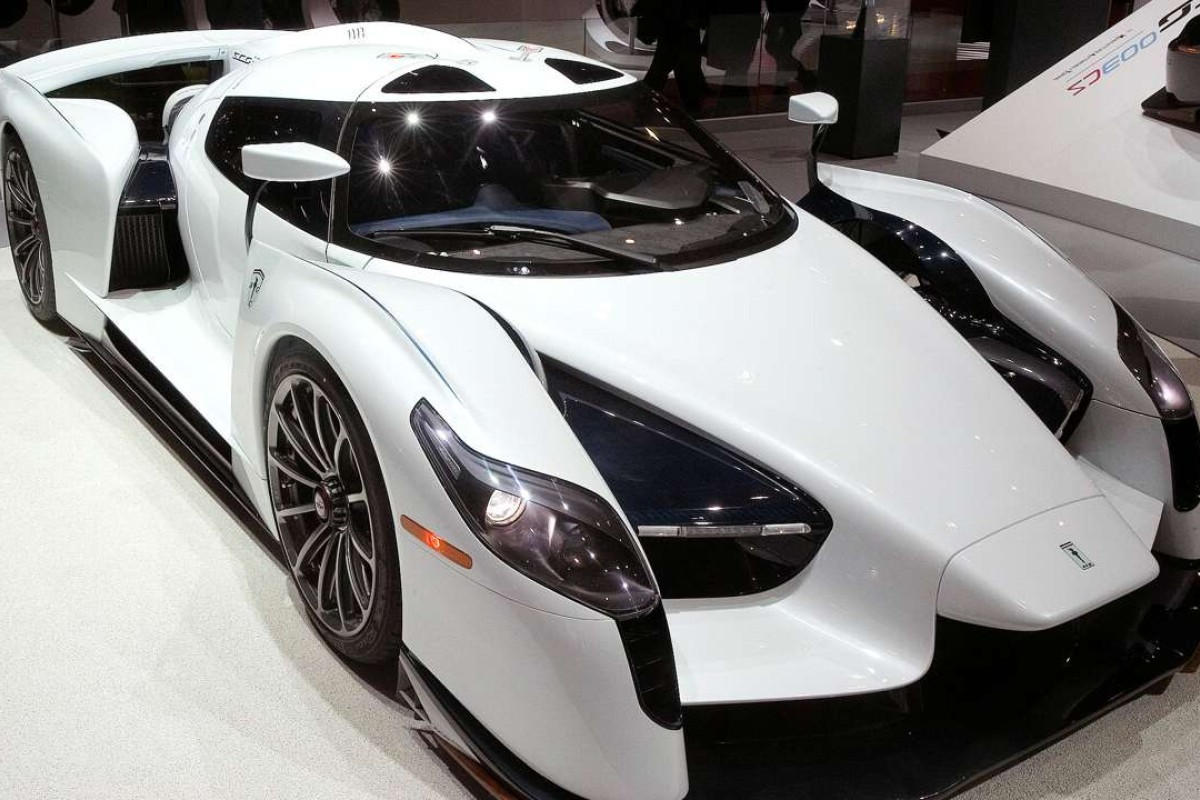 A 800 horsepower SCG 0003S racecar at the 87th International Motor Show. Photo: REUTERS