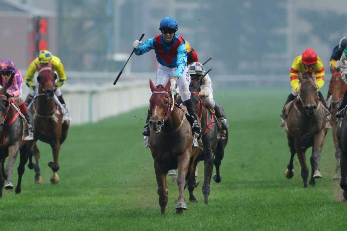 Race 8, Rapper Dragon, ridden by Joao Moreira, won the BMW Hong Kong Derby 2017 (2000m) at Sha Tin. 19MAR17