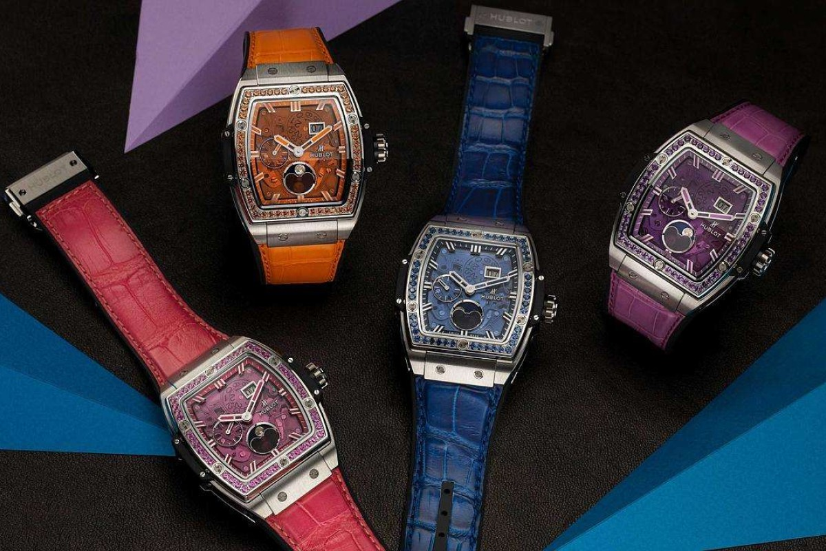 Hublot's Spirit of Big Bang Moonphase collection is a colourful delight for collectors.
