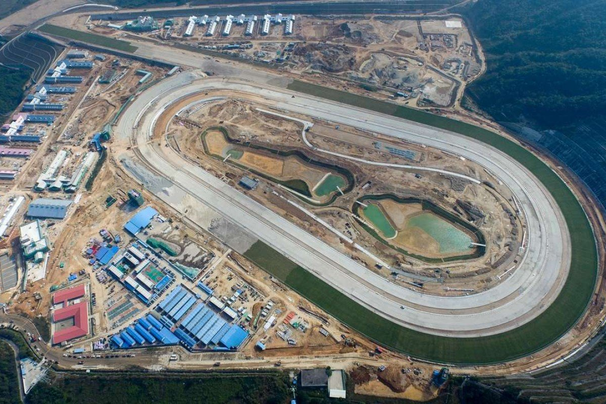 An aerial view of the Hong Kong Jockey Club's new HK$3 billion training facility at Conghua, near Guangzhou. Photo: Hong Kong Jockey Club
