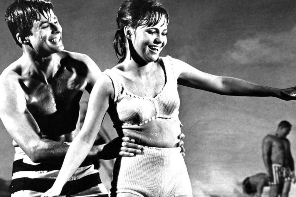 Stephen Mines and Sally Field in Gidget.