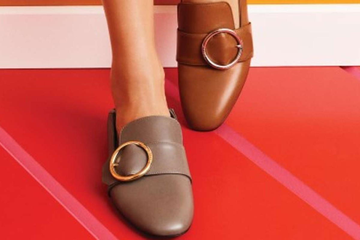 Bally Lottie backless flats