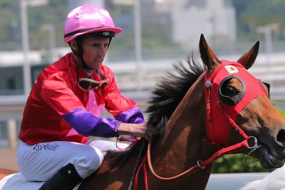 Nash Rawiller faces a month to six weeks out of action after a crash at Sha Tin on Monday. Photos; Kenneth Chan