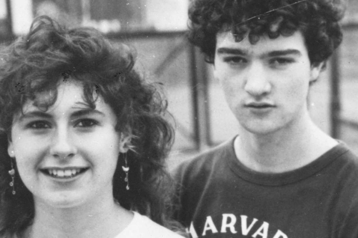 Nicola Myers and Kenneth McBride in 1985.