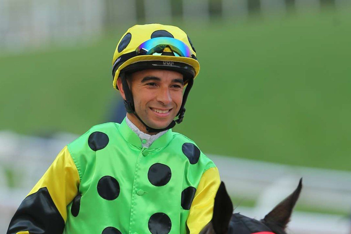 Joao Moreira is all smiles after Nothingilikemore's win in February. Photos: Kenneth Chan.