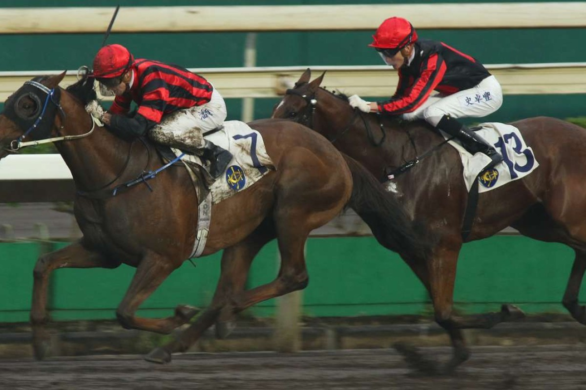 Zac Purton guides Vanilla to victory on the dirt at Sha Tin on Sunday. Photos: Kenneth Chan