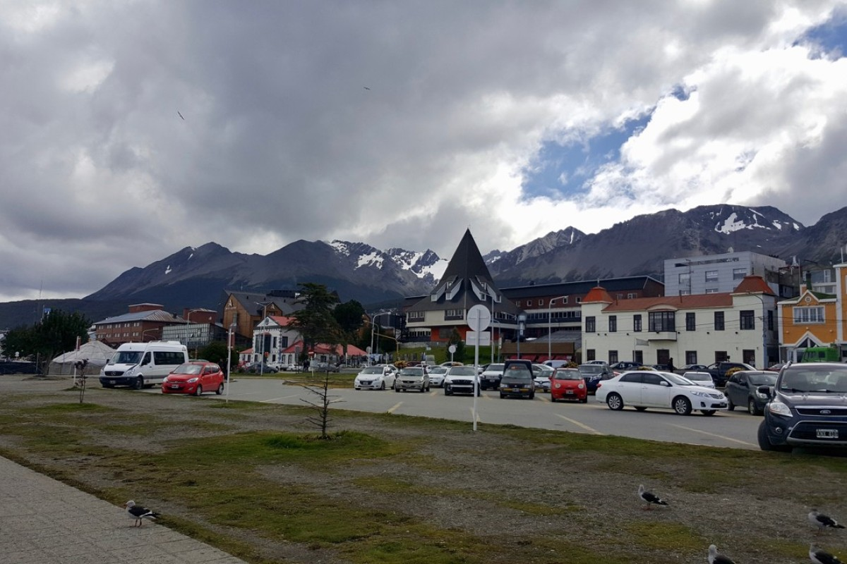 The Ushuaia waterfront with the mountains of Tierra del Fuego behind it. Pictures: Adam Lane