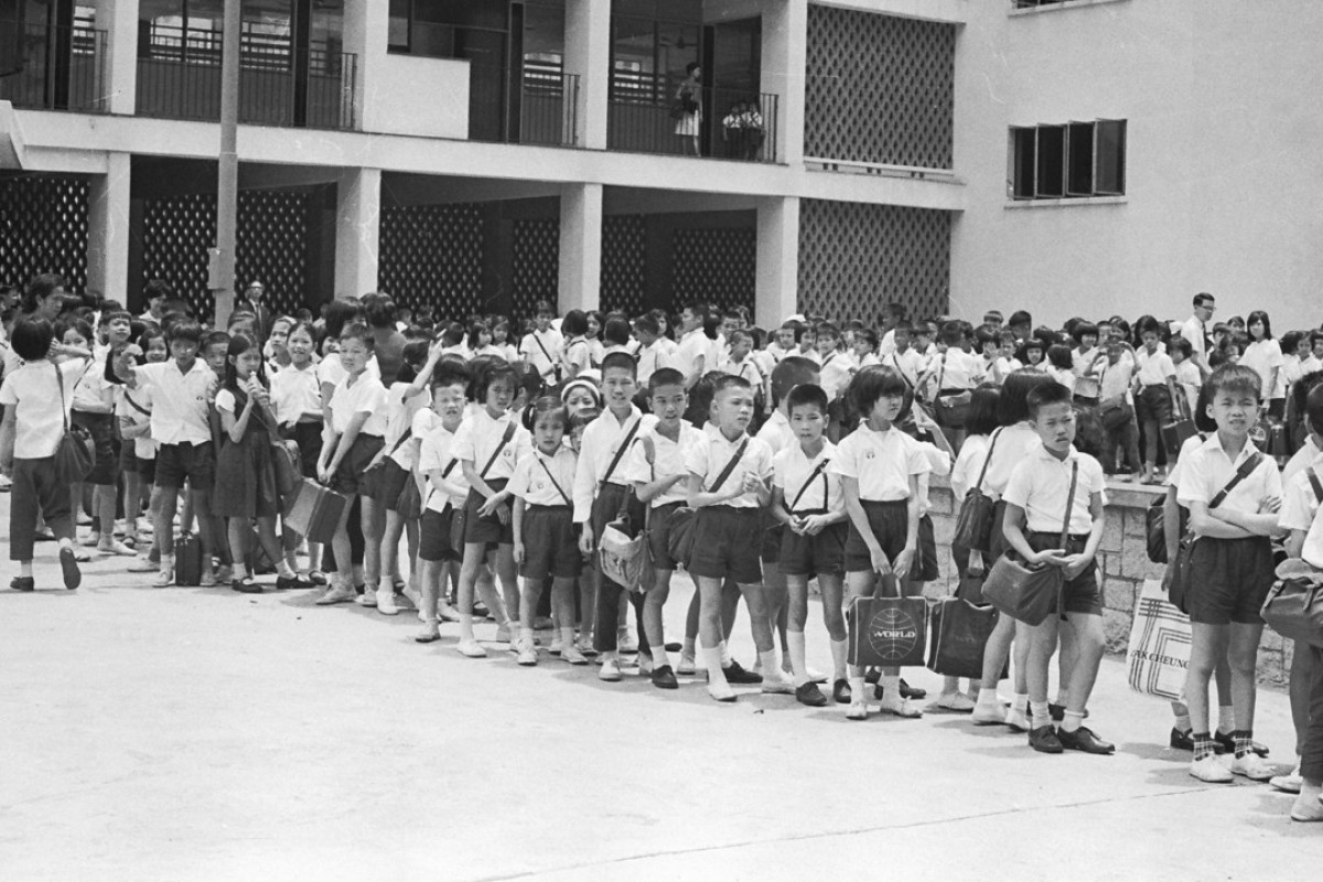 Hong Kong schoolchildren in 1967. Picture: SCMP