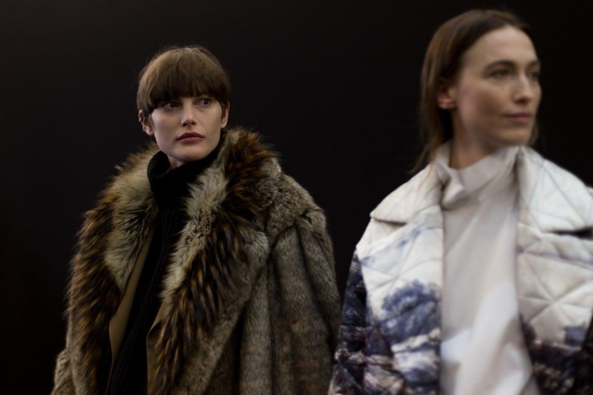 Behind the scenes images of Dries Van Noten's autumn-winter 2017 show during Paris Fashion Week