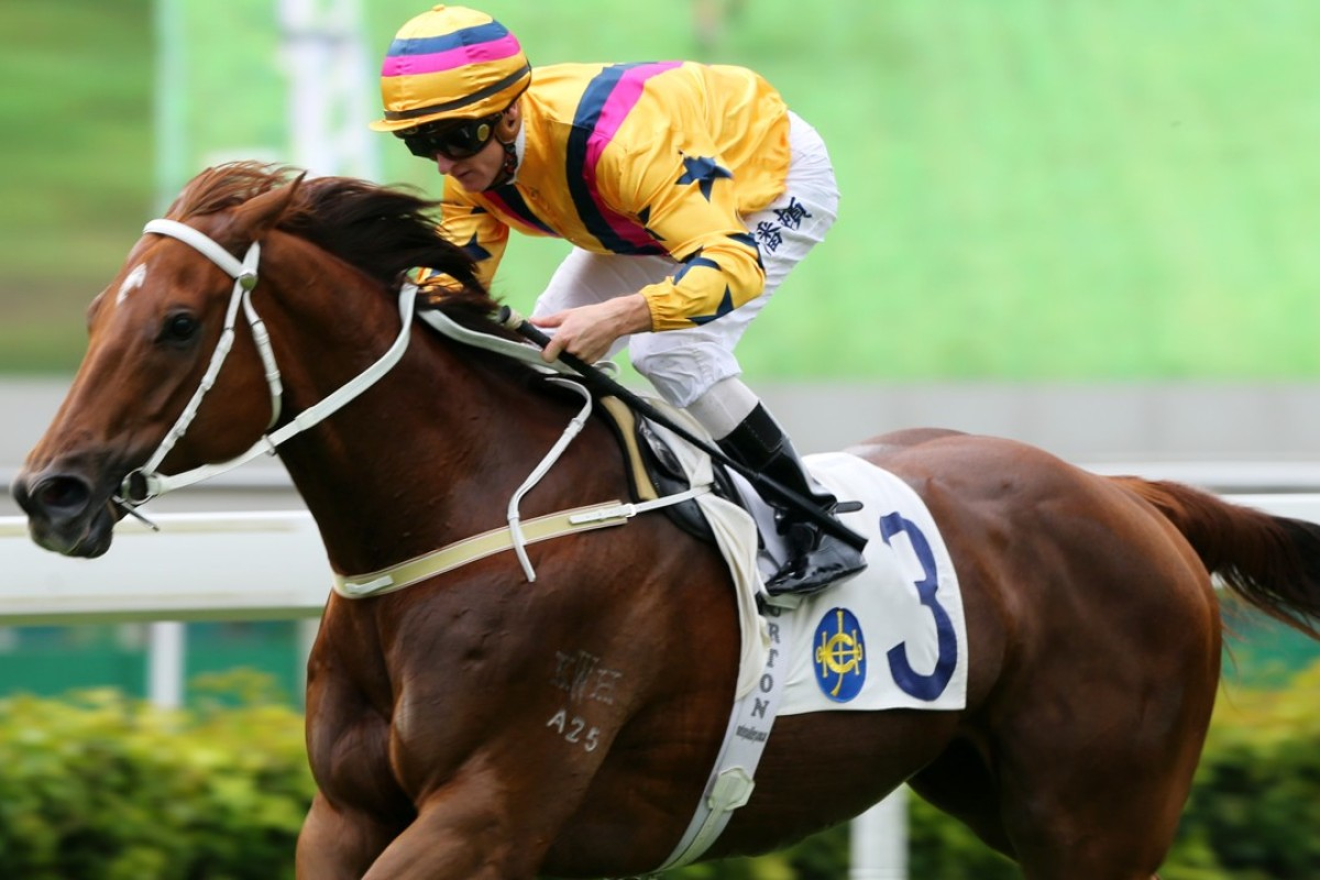 Zac Purton cruises to the line as Winner's Way scores an easy win at Sha Tin on Saturday. Photos: Kenneth Chan