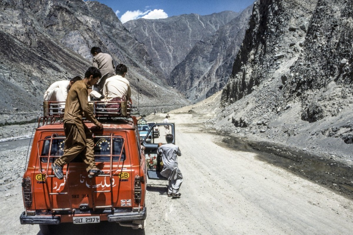 The Karakoram Highway in Gilgit-Baltistan, a precursor to today's China- Pakistan Economic