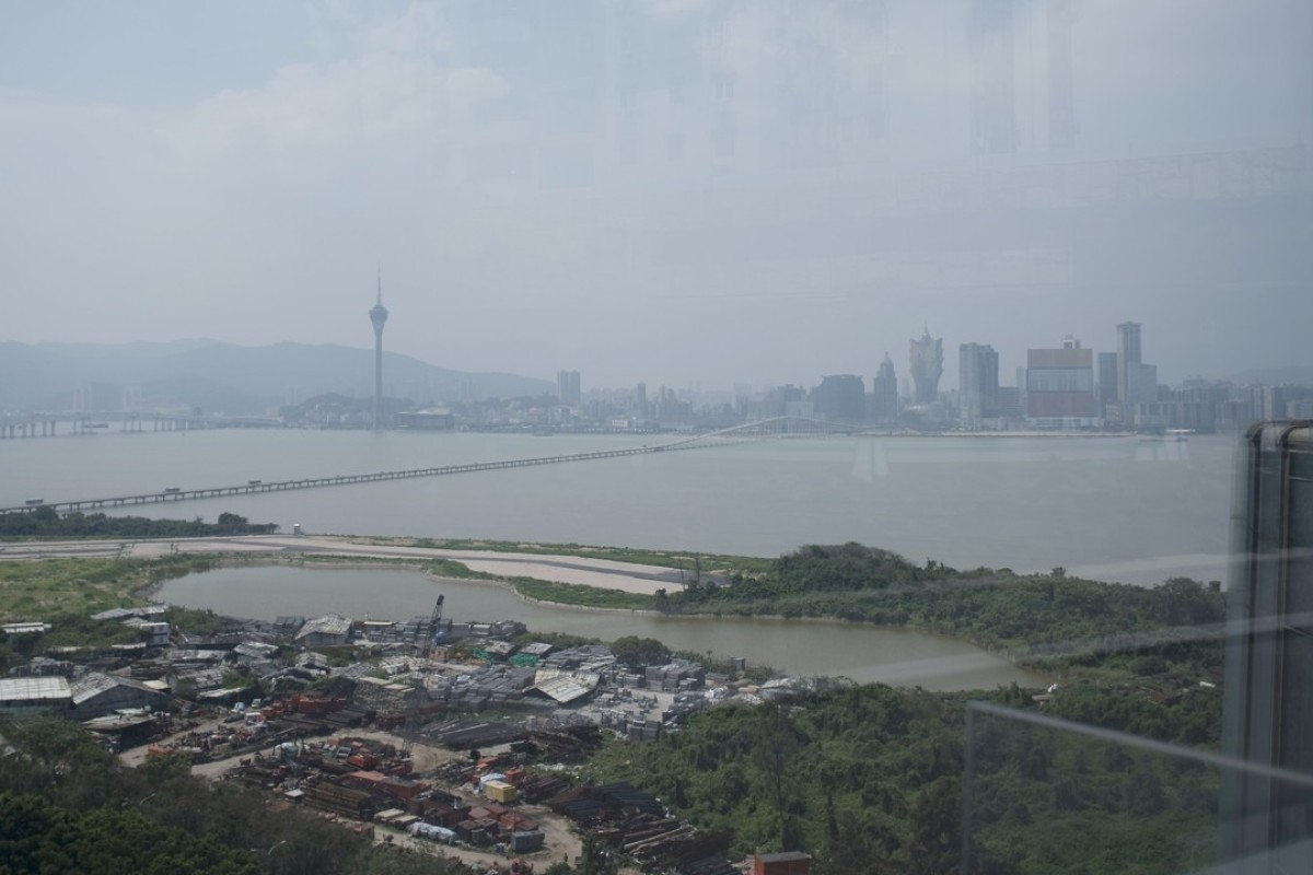 The Macau skyline seen from the restaurant Aurora. Photo: Xiaomei Chen