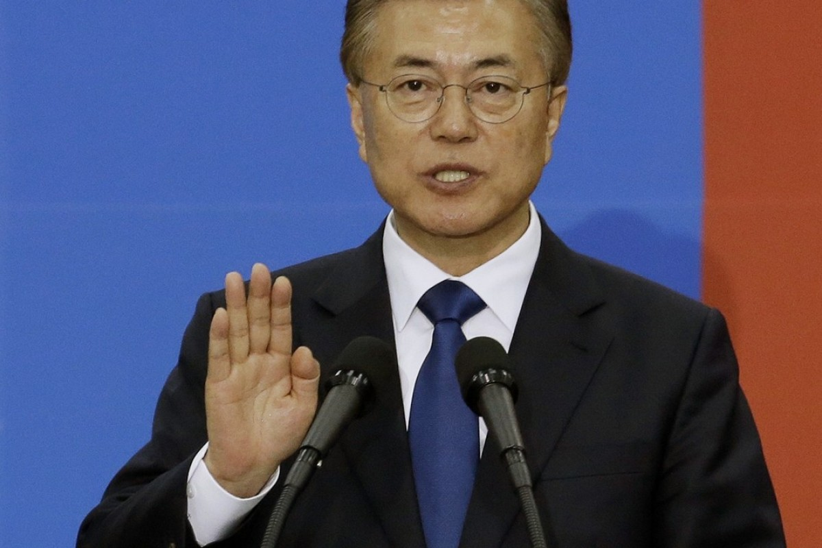 South Korean President Moon Jae-in warned of conflict on the North Korean border. Photo: AP