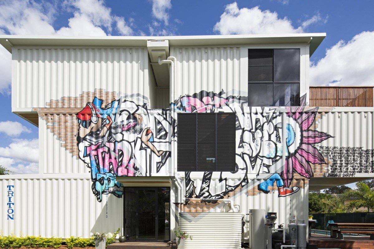A container home in Brisbane designed and built by Todd Miller. Photo: Handout