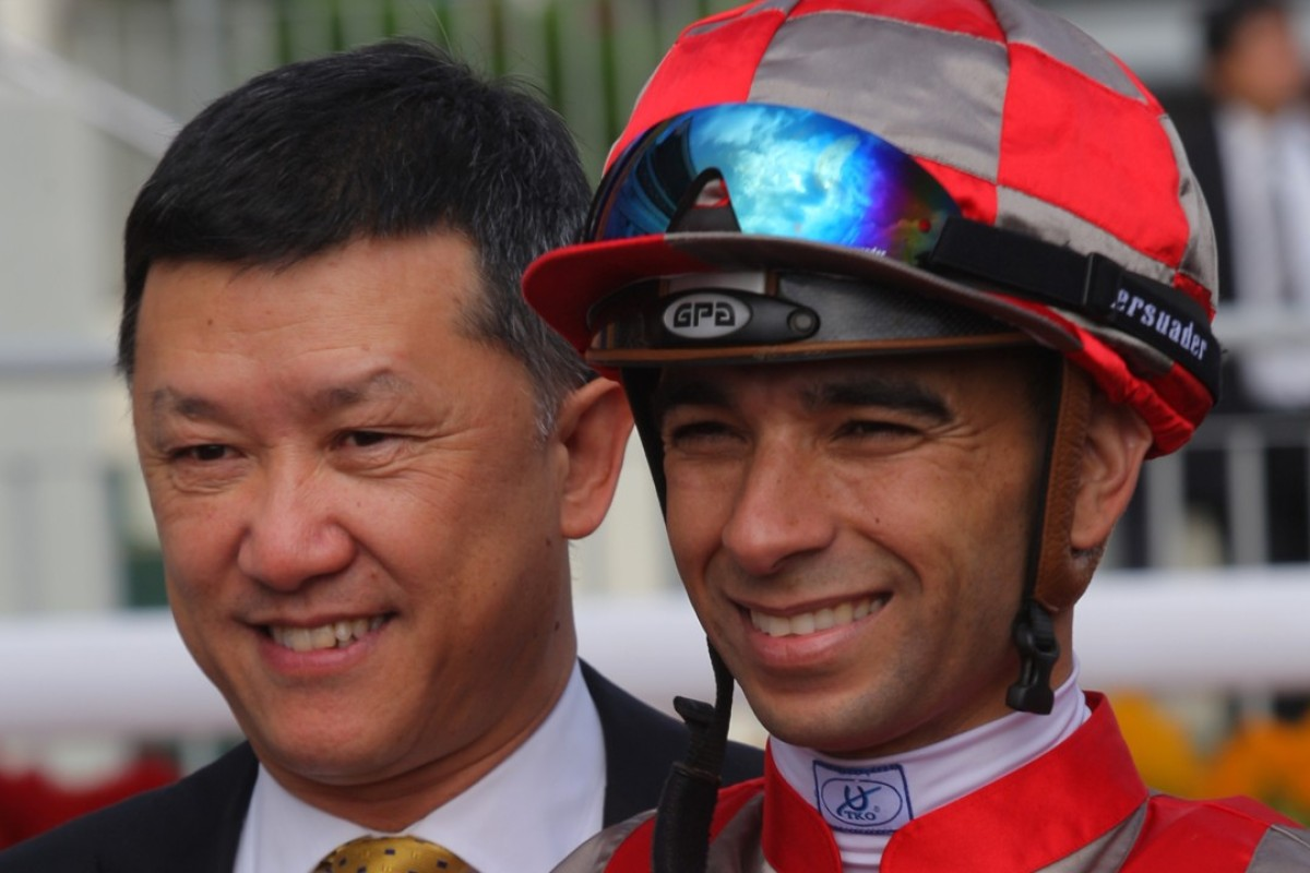 Trainer Peter Ho and jockey Joao Moreira combine with Gran Master in the opening race tonight. Photos: Kenneth Chan.
