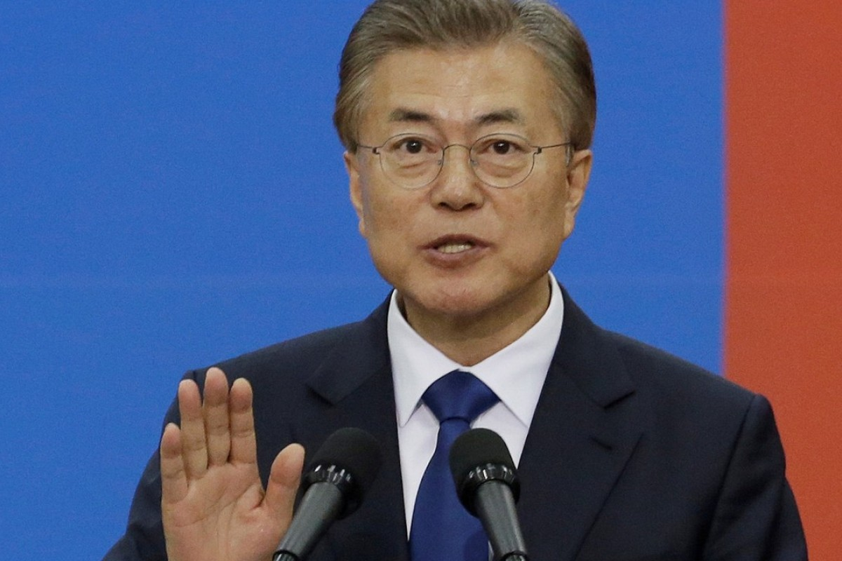 Sceptics say if South Korean President Moon Jae-in really didn't know there would be six THAAD launchers he's either ill-informed or incompetent. Photo: Reuters