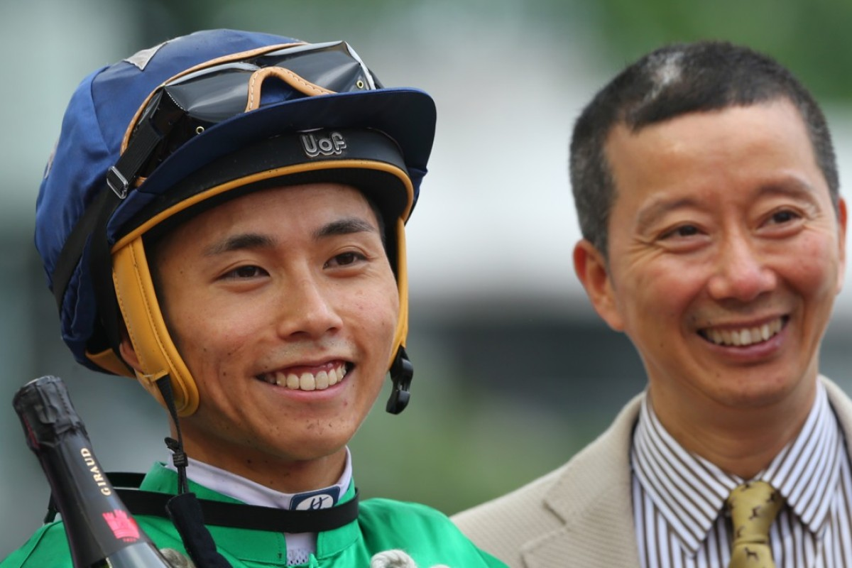 Matthew Poon and trainer Benno Yung. Photos: Kenneth Chan