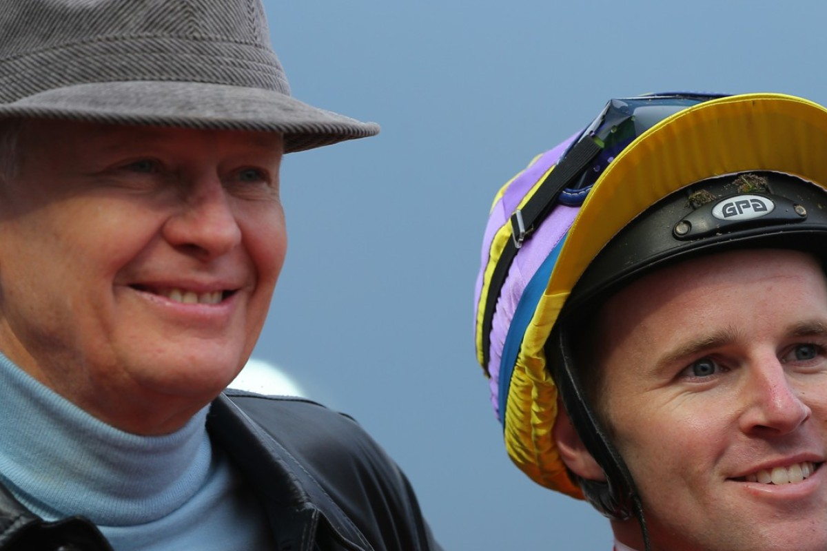 Tommy Berry (right) is joining trainer John Moore as his retained rider. Photos: Kenneth Chan