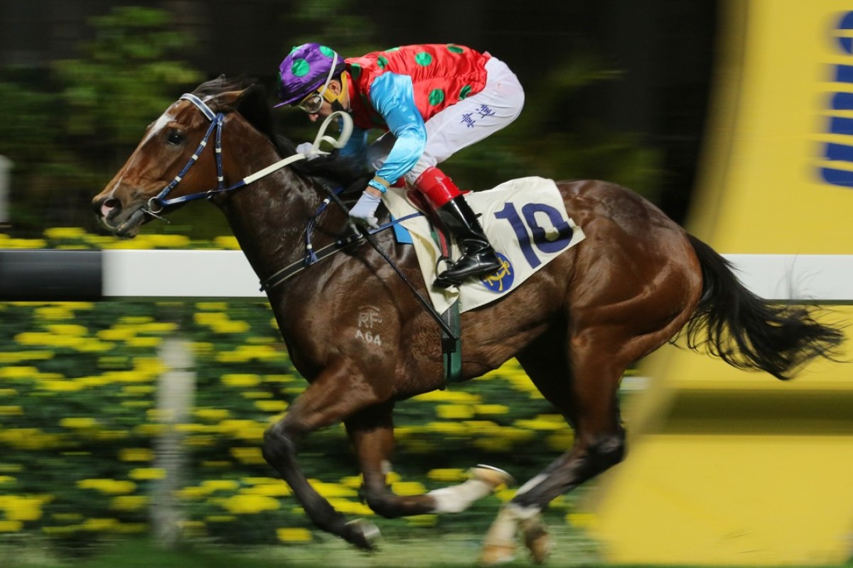 Healthy Luck wins for Douglas Whyte, with the jockey merry-go-round having Joao Moreira aboard the three-year-old on Wednesday. Photos: Kenneth Chan.