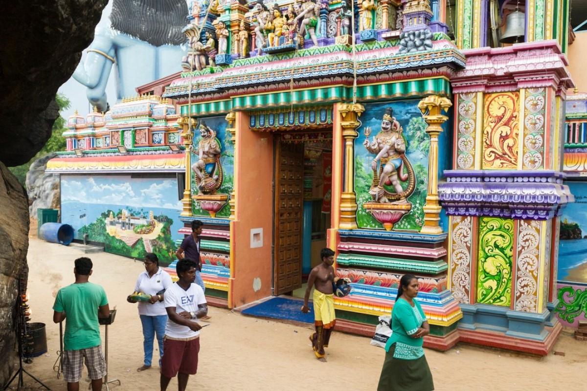 Koneswaram Kovil Hindu temple, Trincomalee, Sri Lanka. Picture: Alamy