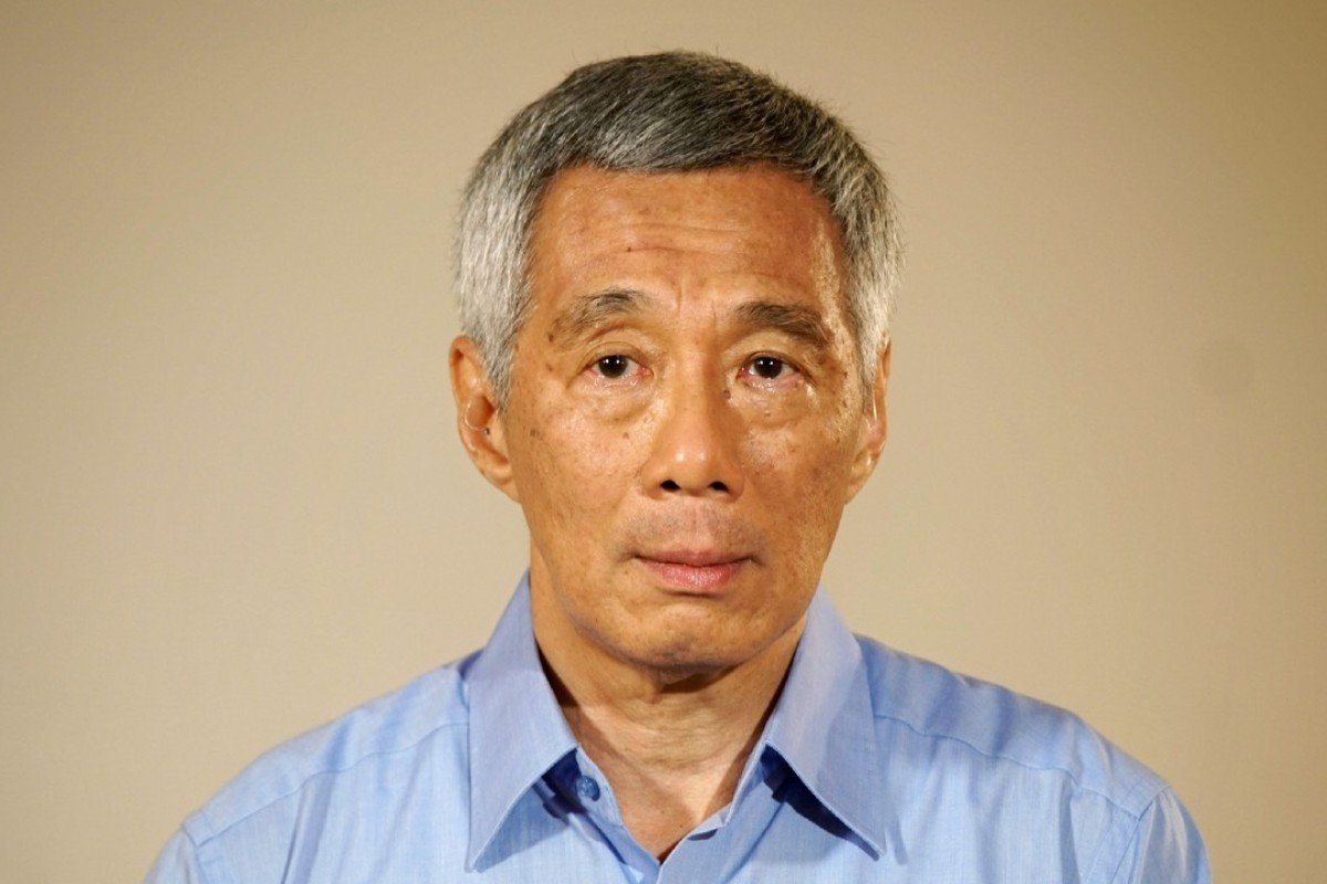 Singapore's Prime Minister Lee Hsien Loong makes a statement at the Istana presidential palace in Singapore. The leader addressed Parliament today about the feud between him and his siblings over the estate of their deceased father. Photo: AFP