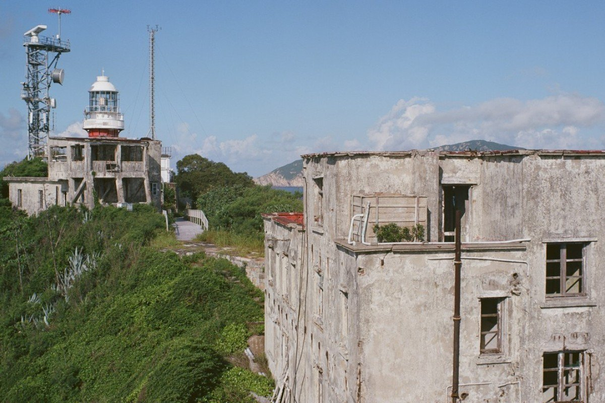 The Waglan Lighthouse compound. Picture: Antony Dickson