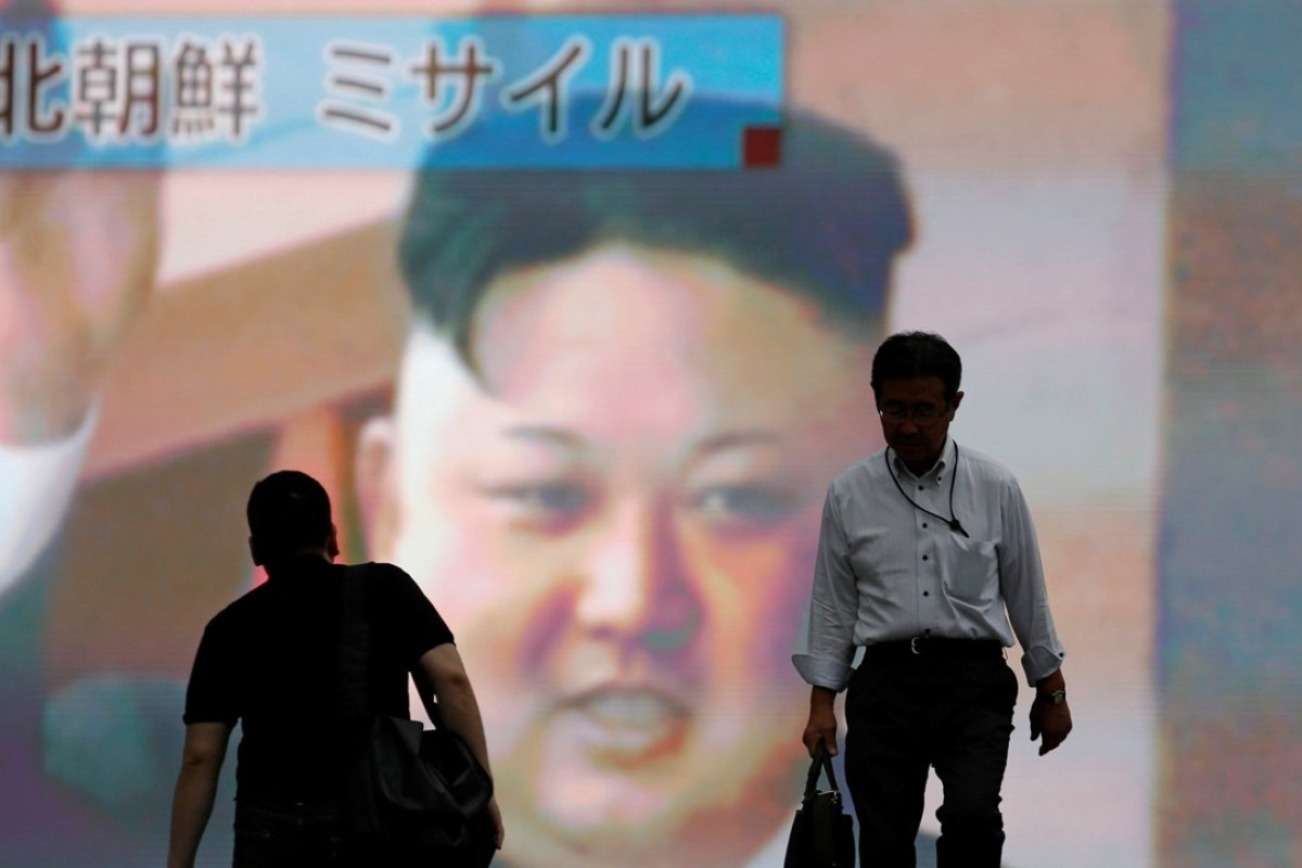 A monitor in Tokyo shows a news report regarding a North Korean missile launch. Photo: Reuters