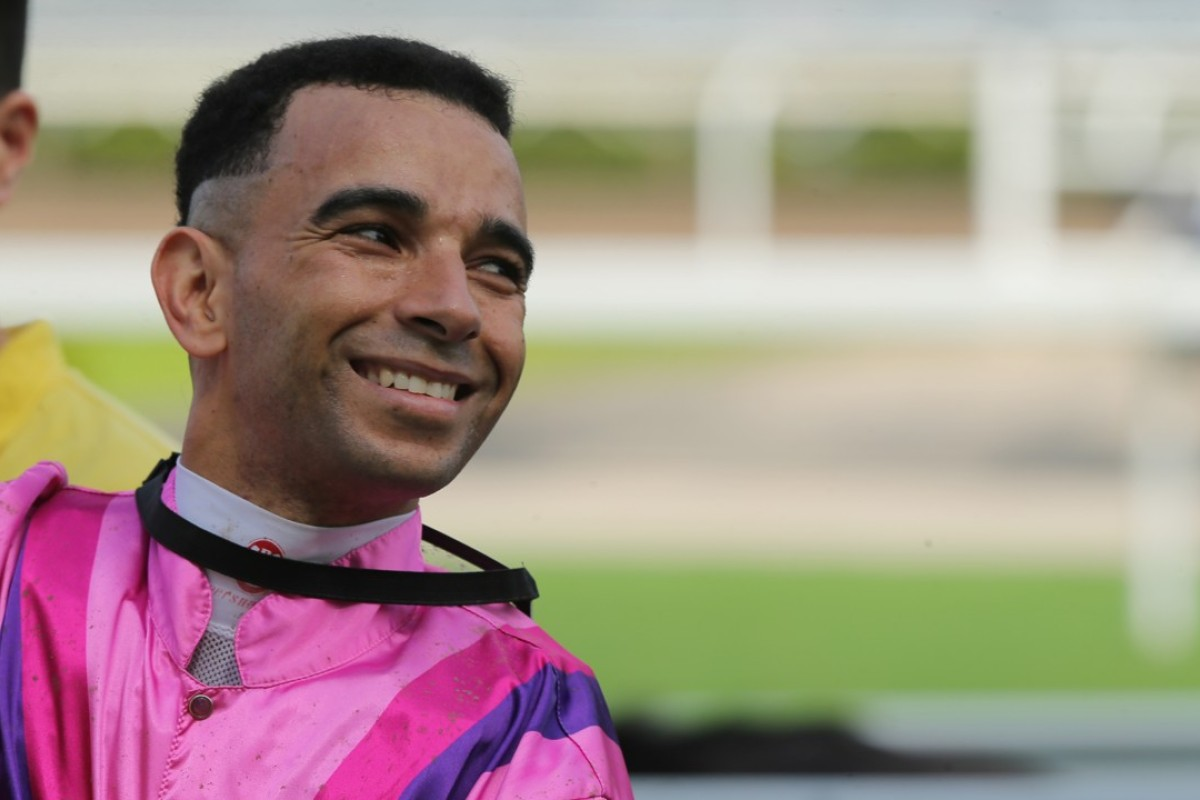 Joao Moreira smiles after recording his 169th winner of the season. Photos: Kenneth Chan